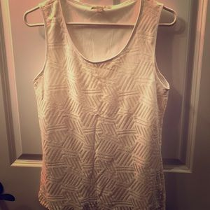 BANANA REPUBLIC sleeveless lace tank/lined